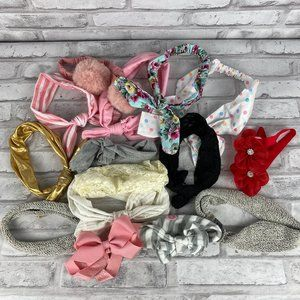 Lot of 16 Baby Girl Headbands Multi Designs